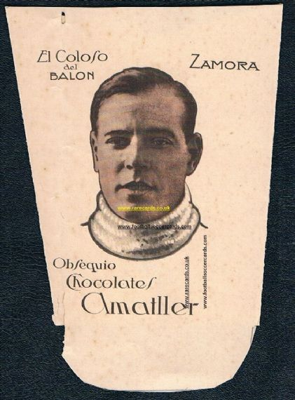 1923 Amattler Zamora Colosos cup card